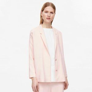 COS Baby Pink Two Button Vented Blazer Jacket